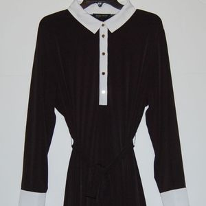 Ivanka Trump long sleeve belted dress